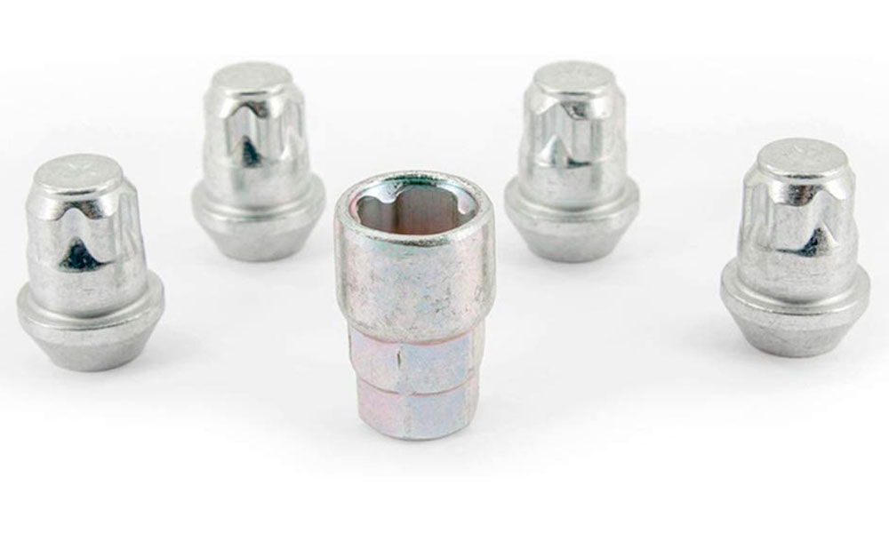 H&R Felgenschloss-Set Kegelbundmuttern 60° M14x1,5 SW19+21 silber