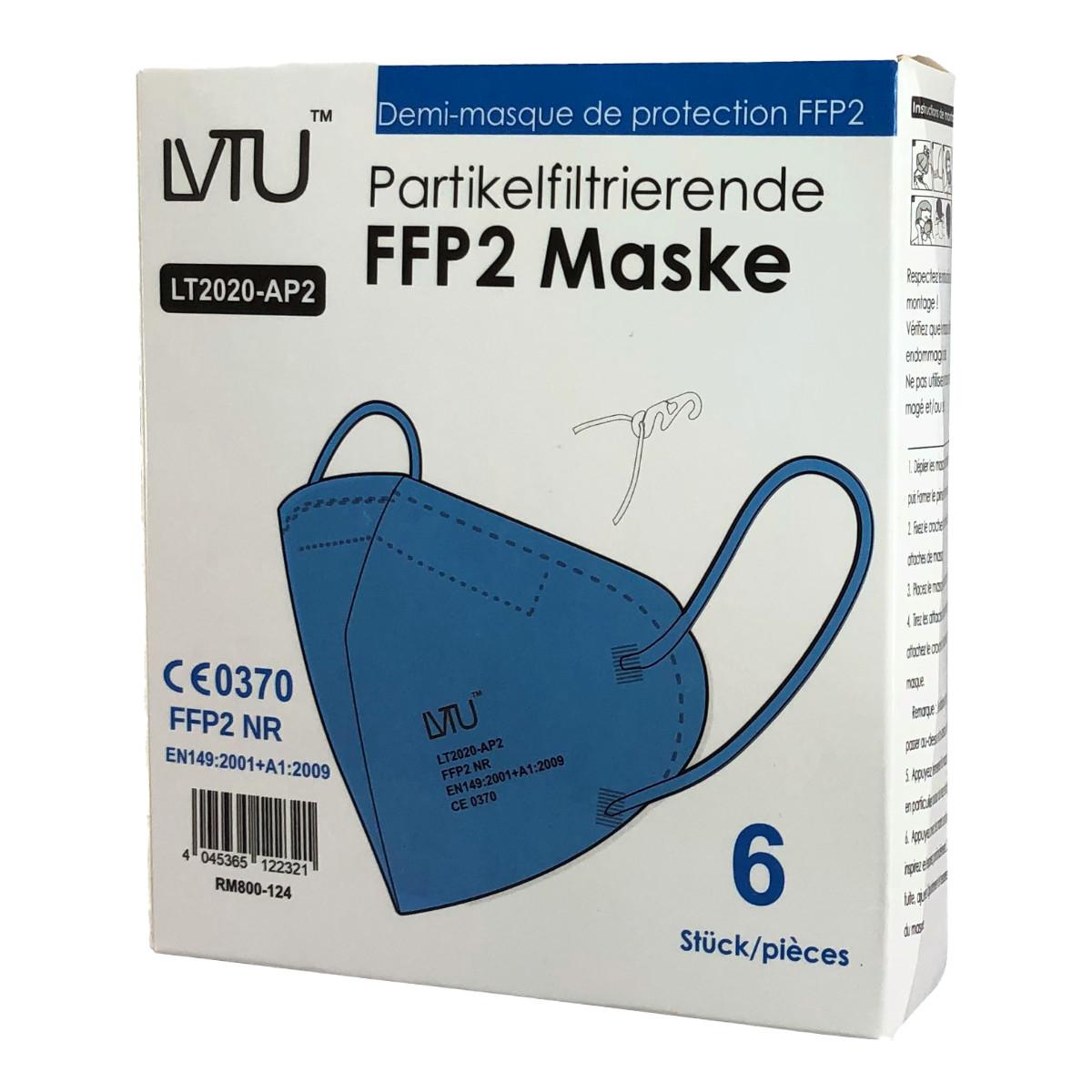 in.pro. medical FFP2 Atemschutzmaske DIN EN149:2001 + A1:2009 6 Stück