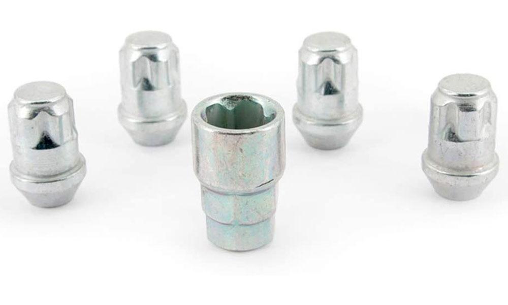 H&R Felgenschloss-Set Kegelbundmuttern 60° M12x1,5 SW19+21 silber