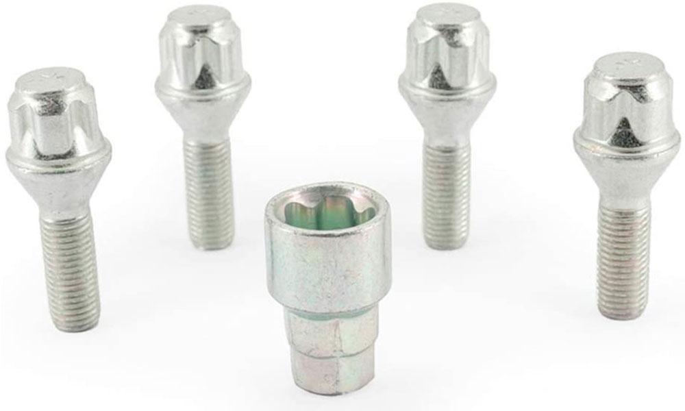 H&R Felgenschloss-Set Kegelbundschrauben 60° M12x1,5x30 SW17+19 silber