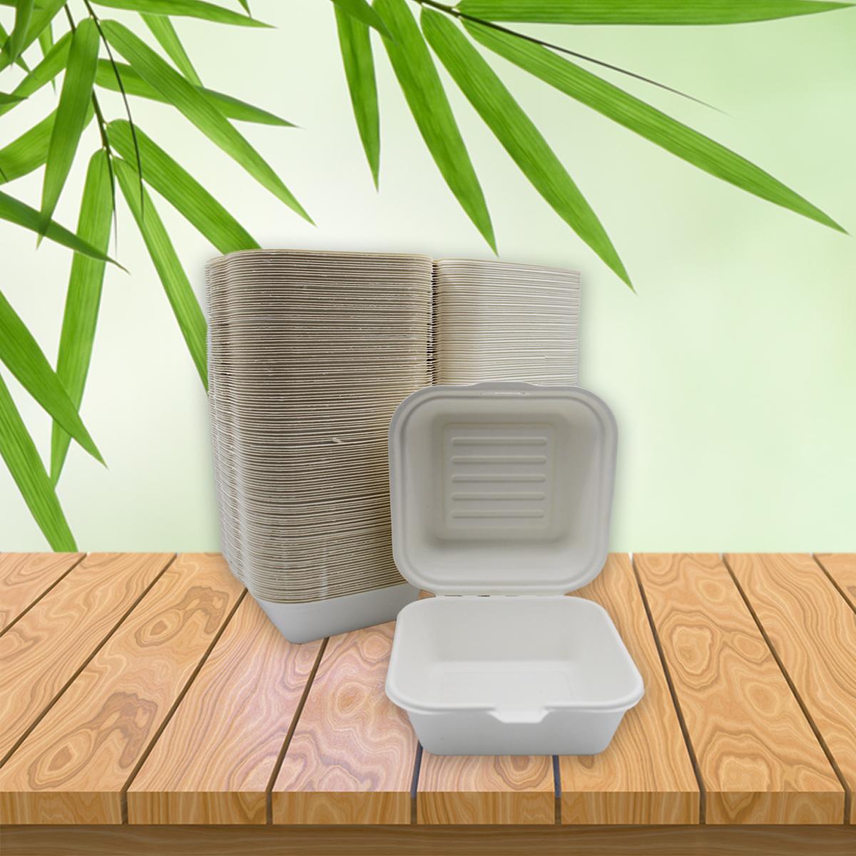 Be Tasty Menübox ungeteilt 450ml aus Zuckerrohr 150x150x85mm 125 Stück