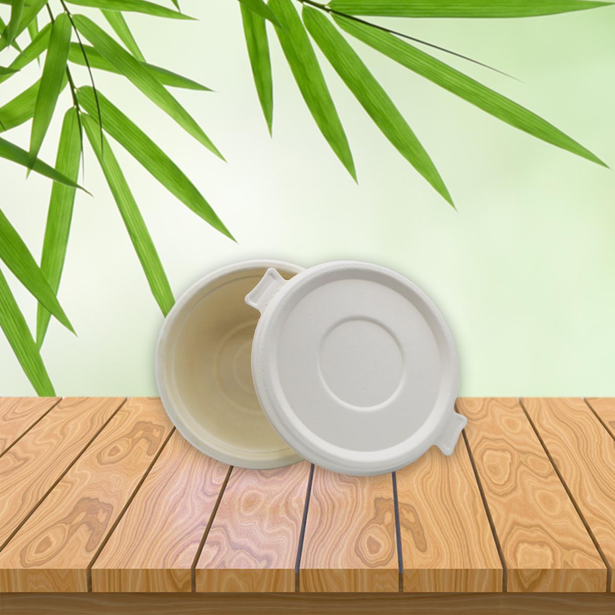 Be Tasty Deckel für Menüschale 322596 aus Zuckerrohr 500ml 125 Stück