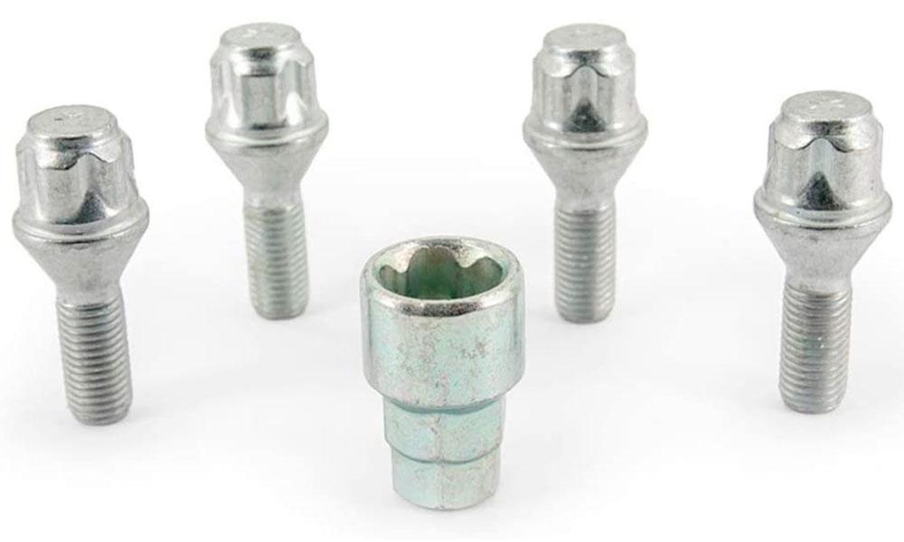 H&R Felgenschloss-Set Kegelbundschrauben 60° M12x1,5x26 SW17+19 silber