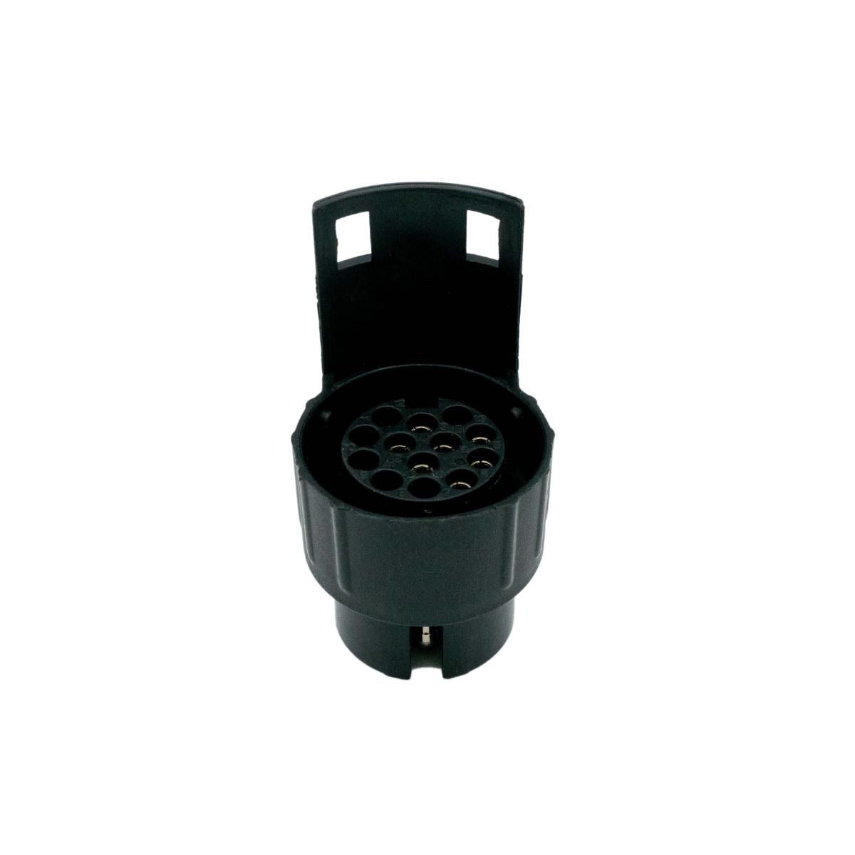 D&W Anhänger Mini-Adapter Steckdose 7-polig auf Stecker 13-polig – 12V