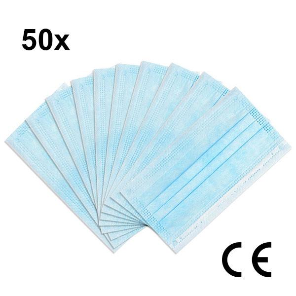 in.pro. medical Atemschutzmaske CE-Zertifiziert (Einweg) 3-lagig 50 Stück