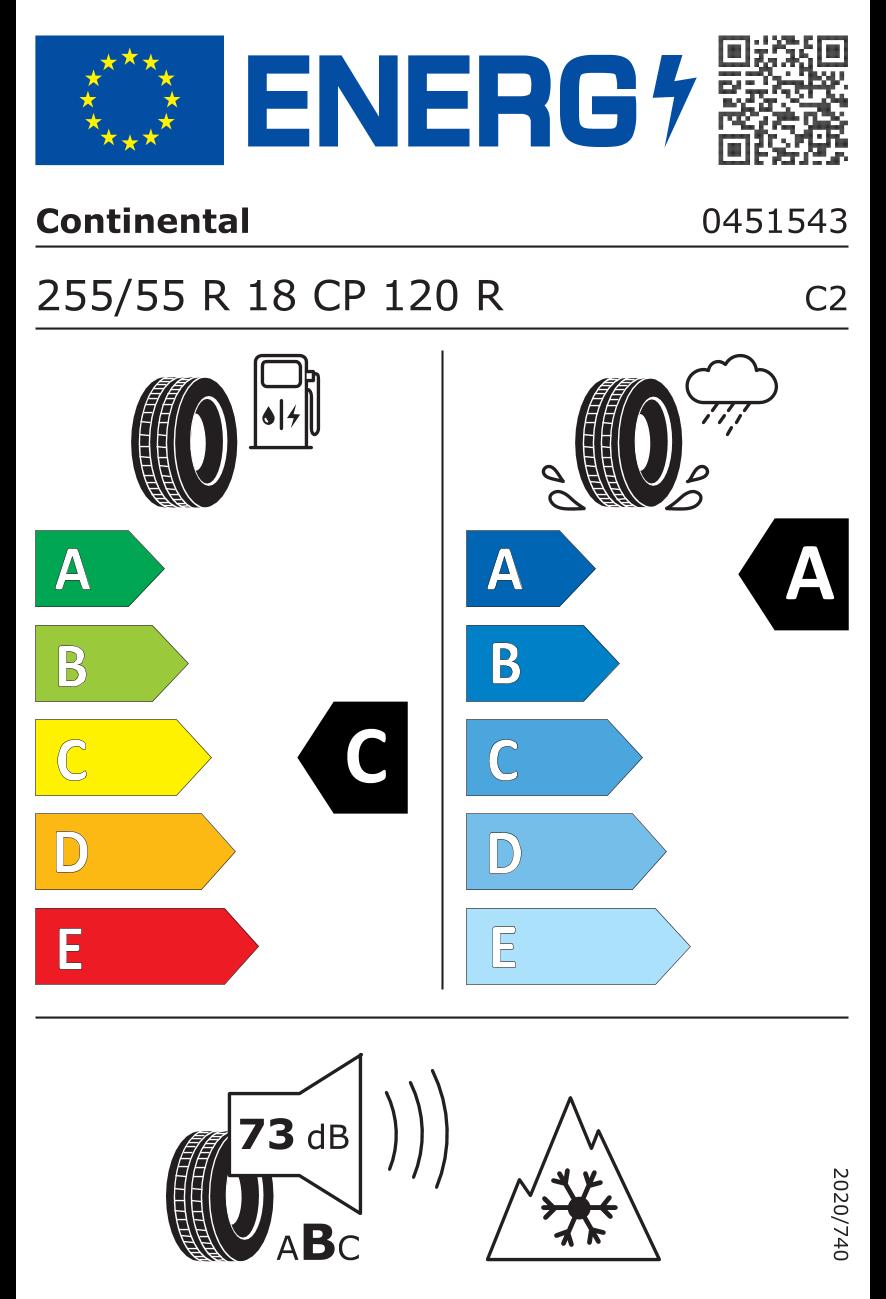 "D&W Wohnmobil-Komplettrad bestehend aus Borbet CWZ Felge 7.5x18"" mistral anthracite polished glossy und Reifen 255/55 R 18 Continental VanContactCamper 120CP All Season"
