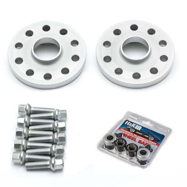 H&R Spurverbreiterung Trak+ mit ABE 11255717 VA: 20mm / HA: 30mm 5/112 57,1 silber