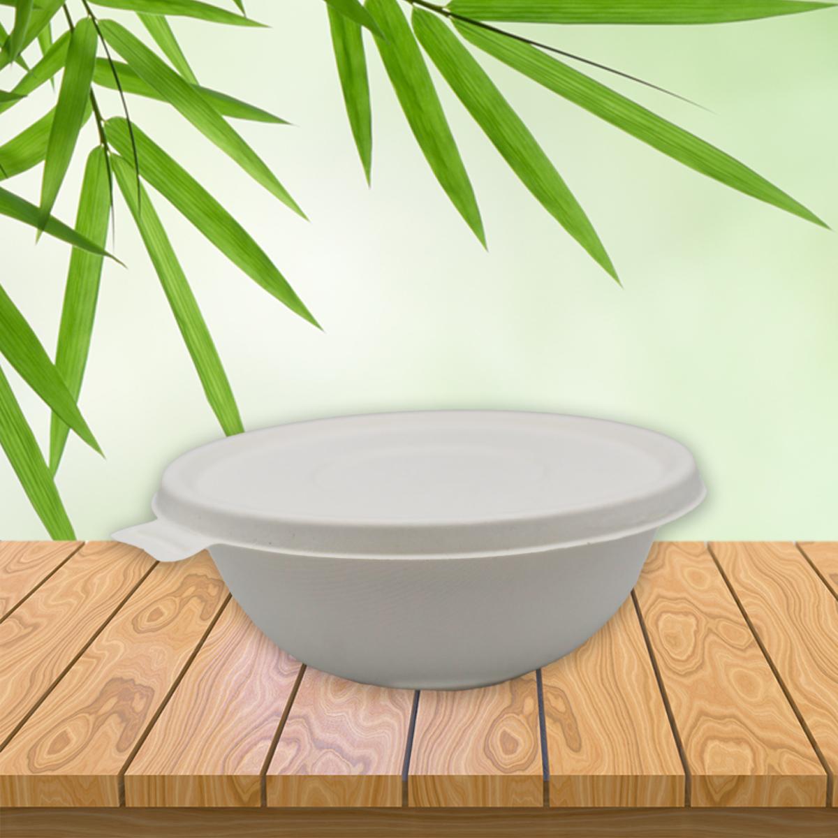 Be Tasty Deckel für Menüschale 322598 aus Zuckerrohr  Bagasse  ⌀ 19,5cm 1300ml 50 Stück